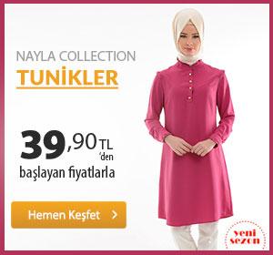 Nayla Collection Tunikler 39,90 TL'den Başlayan Fiyatlarla