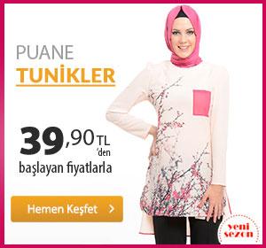 Puane Tunikler 39,90 TL'den Başlayan Fiyatlarla