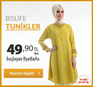 Bislife Tunikler 49,90 TL'den Başlayan Fiyatlarla