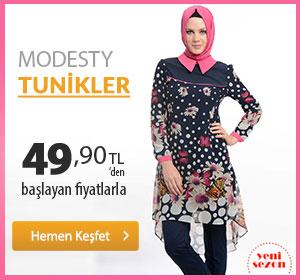 Modesty Tunikler 49,90 TL'den Başlayan Fiyatlarla