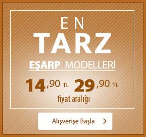 En Tarz Eşarp Modelleri 14,90 TL 29,90 TL Fiyat Aralığı