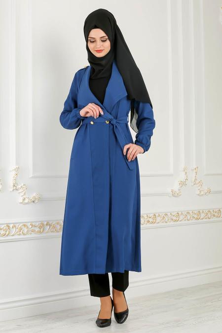 Coat - Petrol Blue Hijab Coat 51880PM