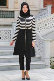 Hewes Line - Black Hijab Coat 940S - Thumbnail