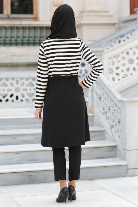 Hewes Line - Black Hijab Coat 940S