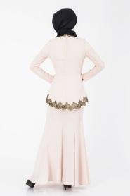 İpekdal - Pudra Tesettür Elbise 3769PD - Thumbnail