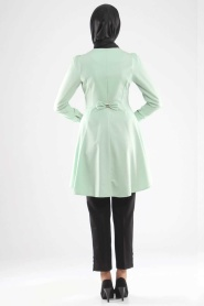 Modesty - Buttoned Mint Coat - Thumbnail
