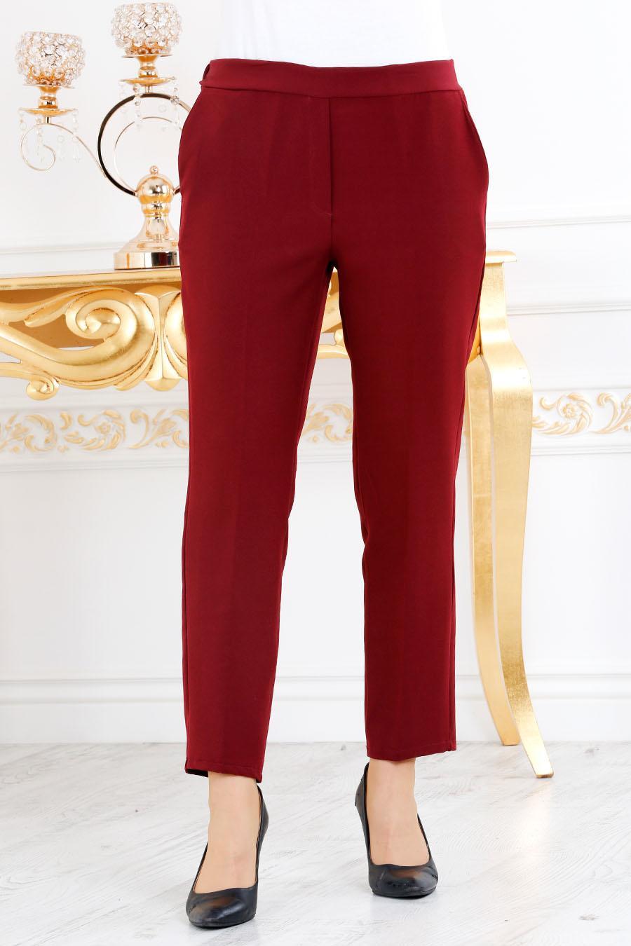 Nayla Collection - Bordo Tesettür Pantolon 20590BR