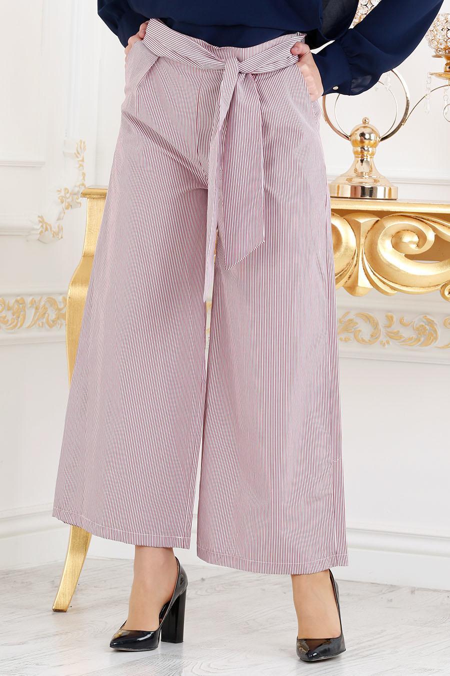 Nayla Collection - Bordo Tesettür Pantolon 605BR