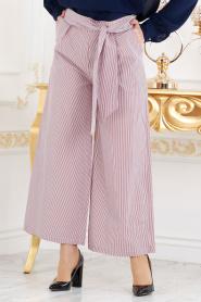 Nayla Collection - Bordo Tesettür Pantolon 605BR - Thumbnail