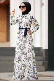 Nayla Collection - Çiçek Desenli Tesettür Elbise 815223DSN - Thumbnail