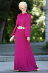 Nayla Collection - Fuşya Balık Elbise - Thumbnail