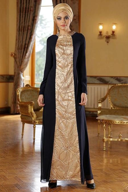 Nayla Collection - Lacivert Elbise