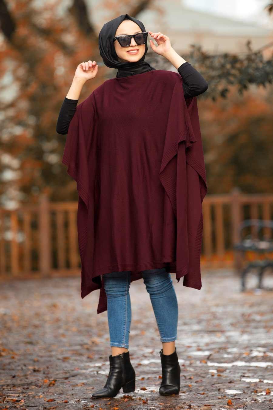 Nayla Collection - Mahogany Hijab Poncho 20021BR