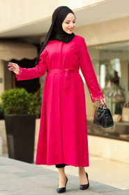 Nayla Collection - Red Hijab Coat 2356K - Thumbnail