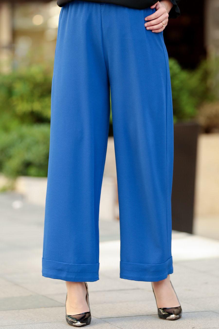 Nayla Collection - Sax Mavisi Tesettür Pantolon 8122SX