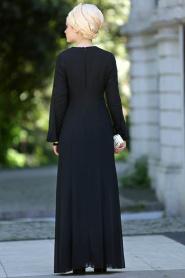 Nayla Collection - Siyah Balık Elbise - Thumbnail