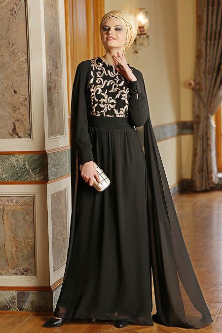 Nayla Collection - Siyah Elbise