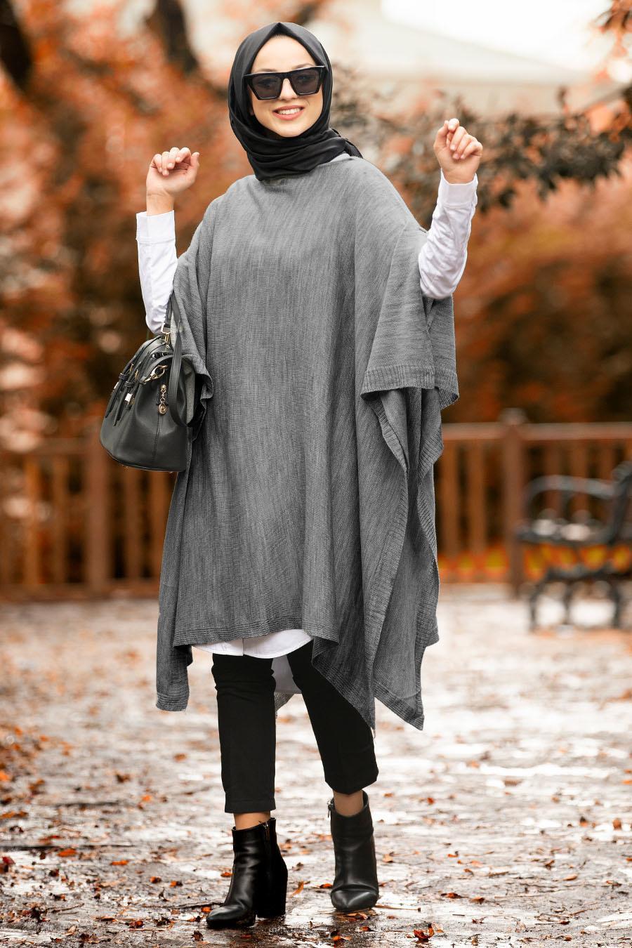 Nayla Collection - Smoked Hijab Poncho 20021FU