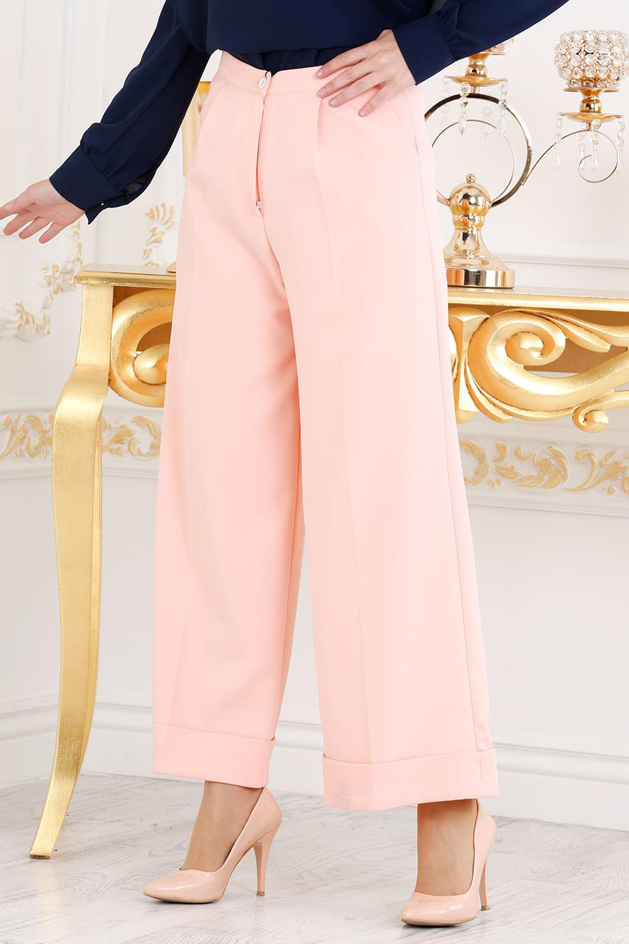 Nayla Collection - Somon Tesettür Pantolon 6072SMN