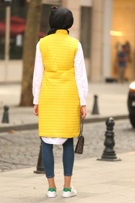 Nayla Collection - Yellow Hijab Vest 5001SR