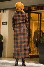 Neva Style - Black Hijab Coat 5500S - Thumbnail