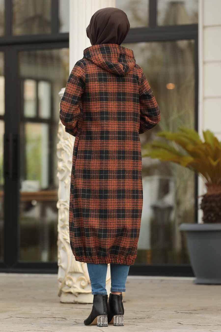 Neva Style - Black Hijab Coat 5507S