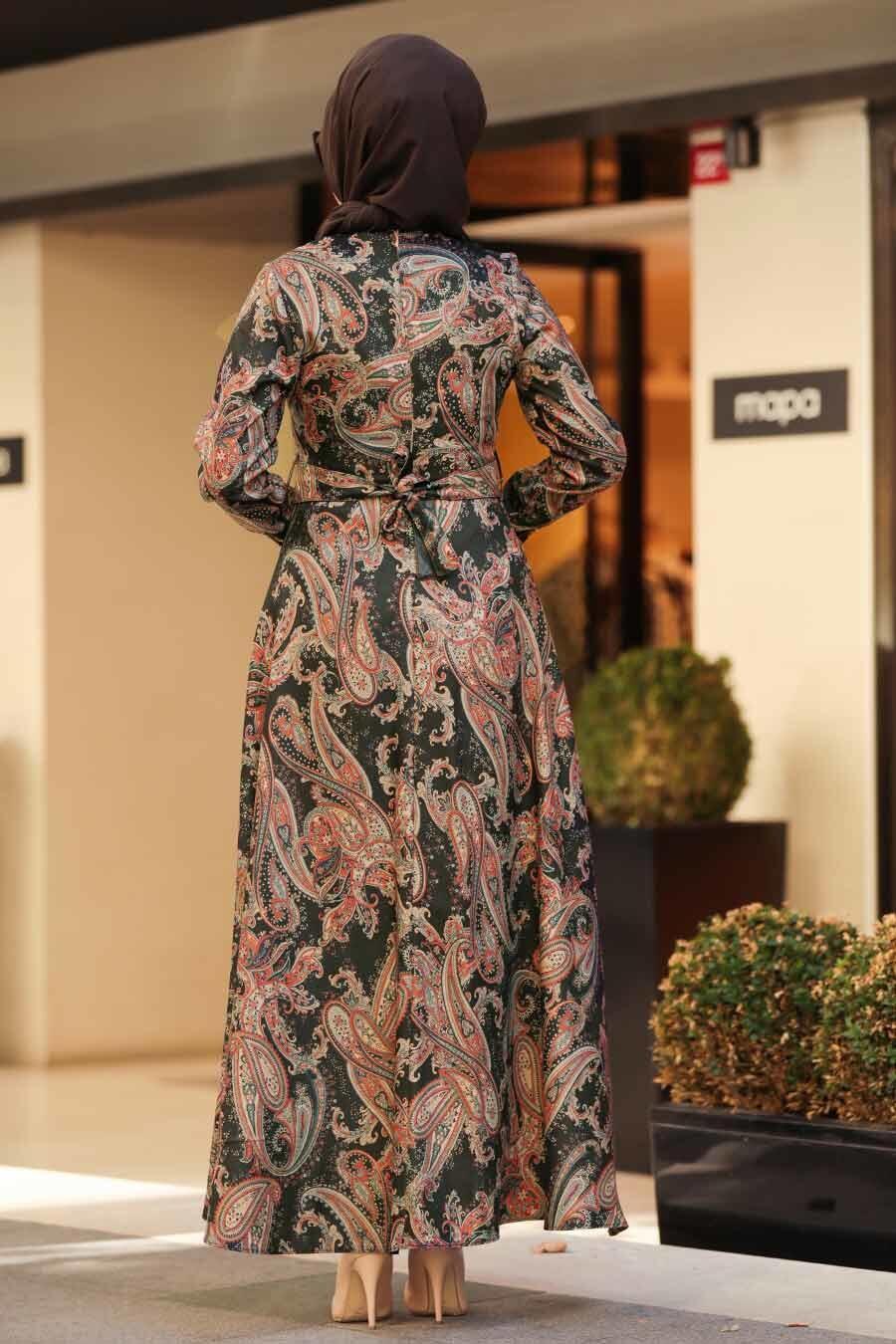 Neva Style - Black Hijab Dress 7591S