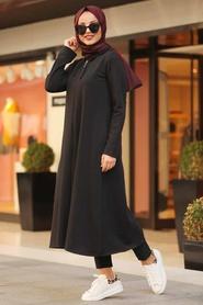 Neva Style - Black Hijab Tunic 22560S - Thumbnail