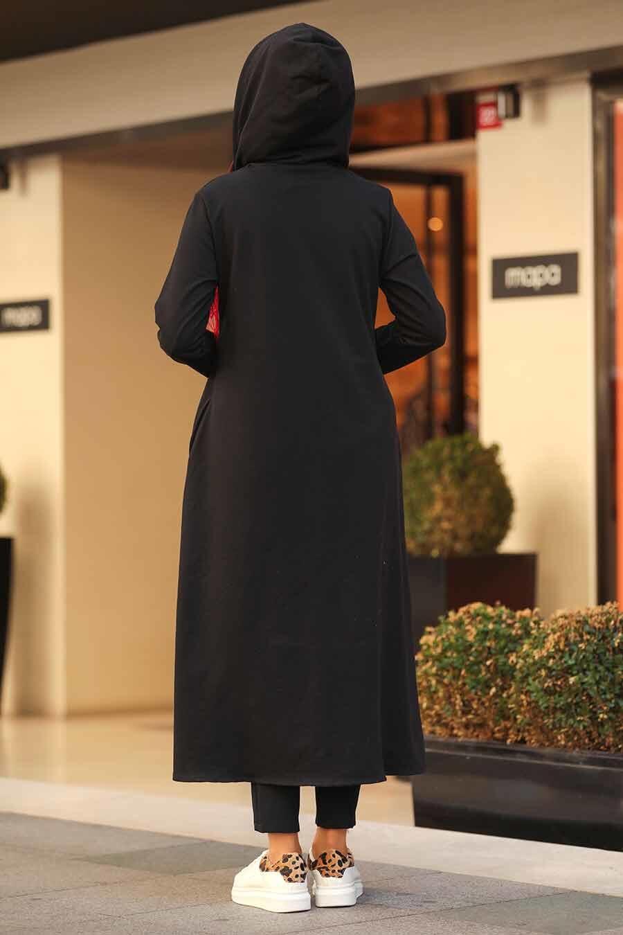 Neva Style - Black Hijab Tunic 22560S