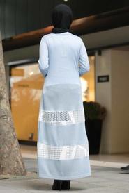Neva Style - Blue Hijab Cardigan 402M - Thumbnail