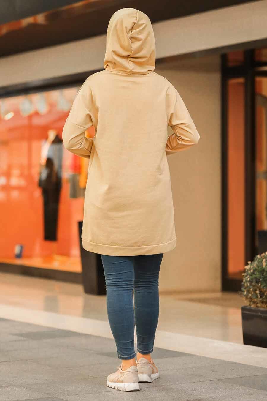 Neva Style - Cepli Bisküvi Tesettür Sweatshirt & Tunik 41371BS