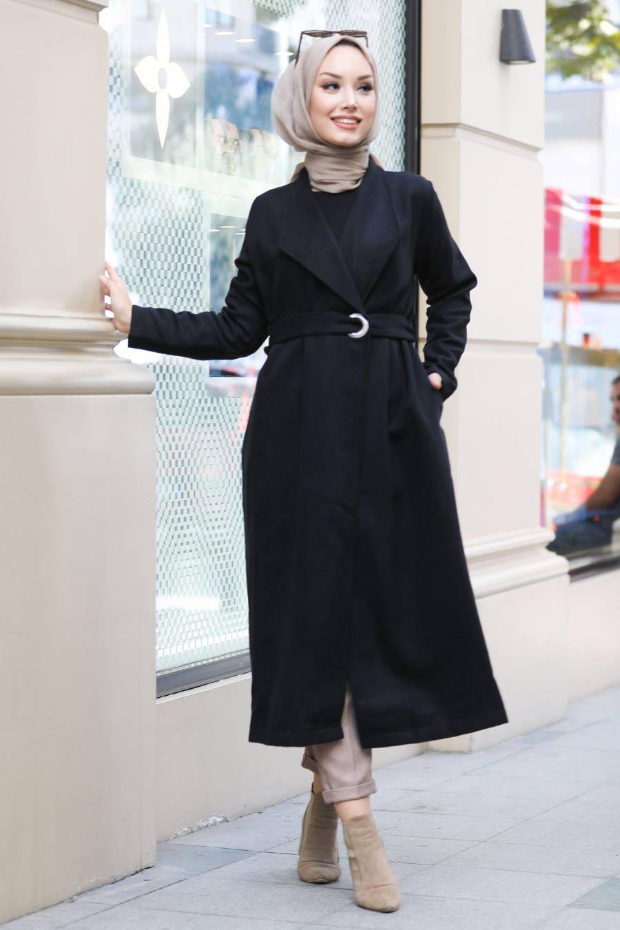 Neva Style - Cepli Siyah Tesettür Kap 5569S
