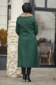 Neva Style - Green Hijab coat 50840Y - Thumbnail