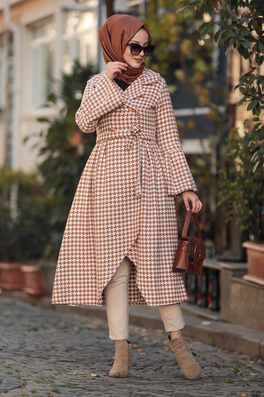 Neva Style - Mustard Hijab Coat 50772HR