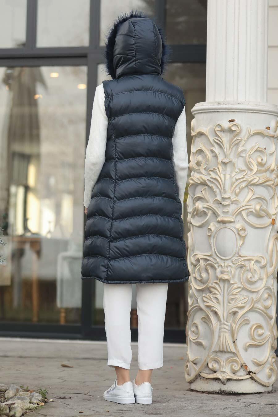 Neva Style - Navy Blue İnflatable Vest 1509L