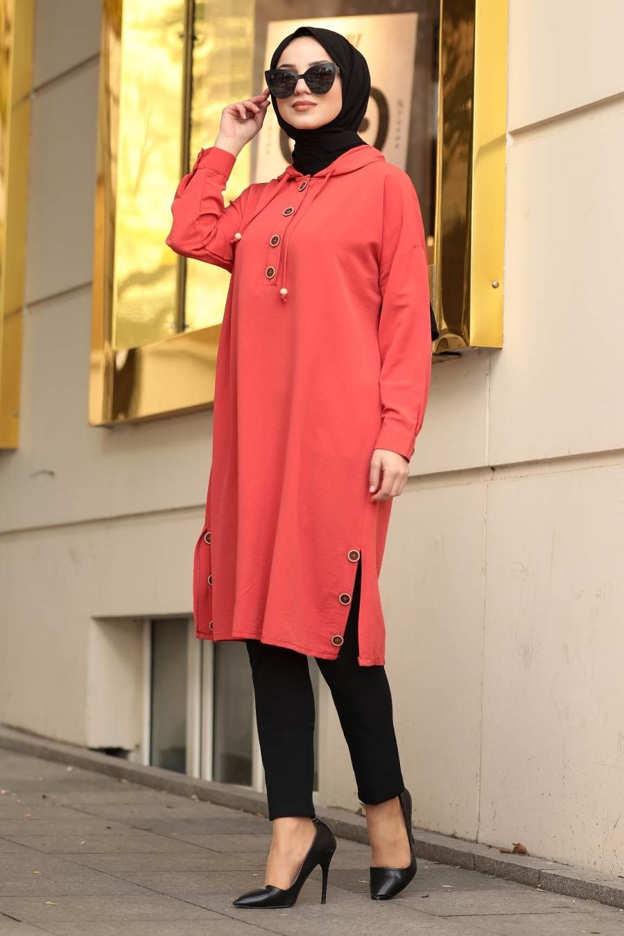 Neva Style - Orange Hijab Tunic 470T