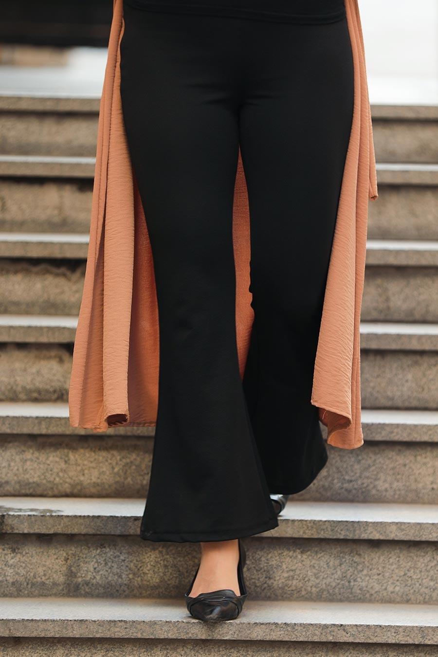 Neva Style - Siyah Tesettür Pantolon 1797S