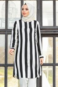 Neva Style - Siyah Tesettür Tunik 20191S - Thumbnail