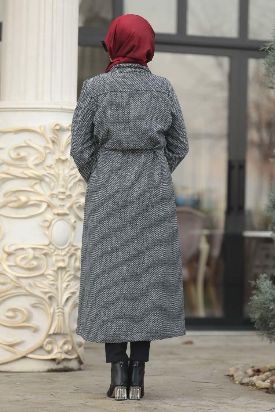 Neva Style - Smoked Hijab Coat 55005FU