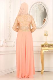 Somon Tesettür Abiye Elbise 7074SMN - Thumbnail