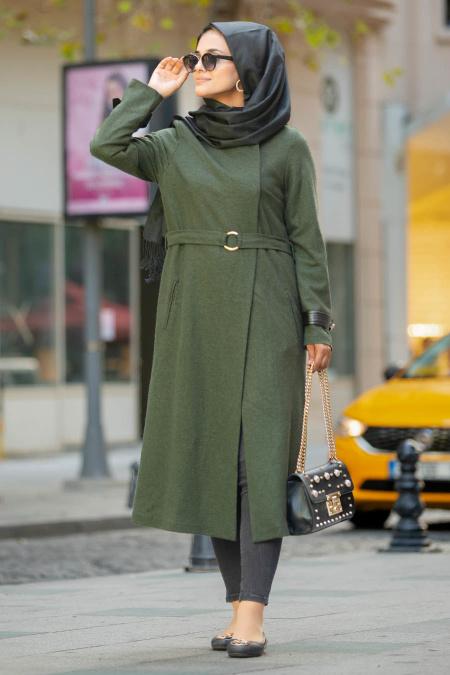 Puane - Khaki Hijab Coat 9063HK