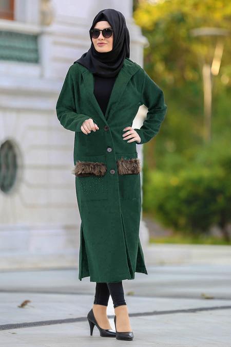 S-VUP - Khaki Hijab Coat 40083HK