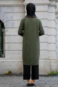 S-VUP - Khaki Hijab Trico Cardigan 4279HK - Thumbnail
