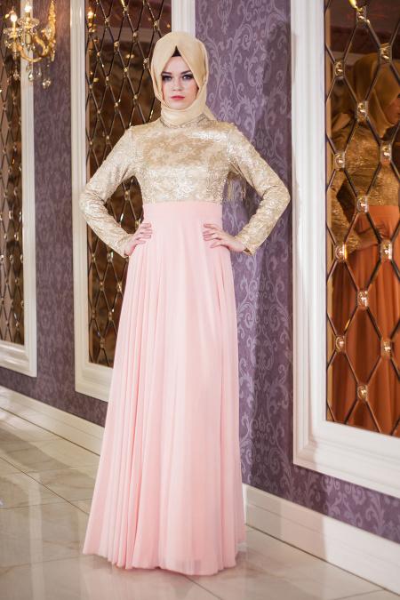 Somon Tesettür Abiye Elbise 2189SMN