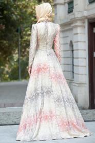 Mercan Tesettür Abiye Elbise 2233MR - Thumbnail