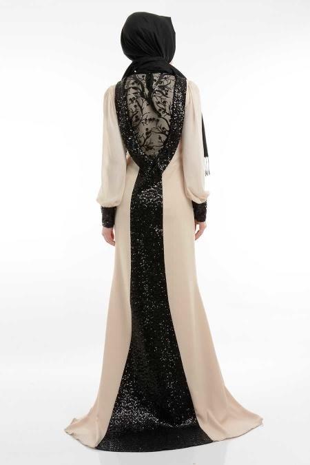 Tesettürlü Abiye Tesettür Elbise 3787E