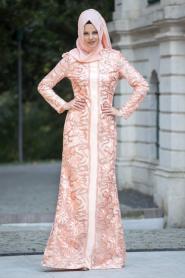 Somon Tesettür Abiye Elbise 3921SMN - Thumbnail