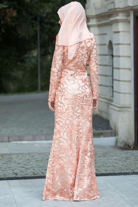 Somon Tesettür Abiye Elbise 3921SMN