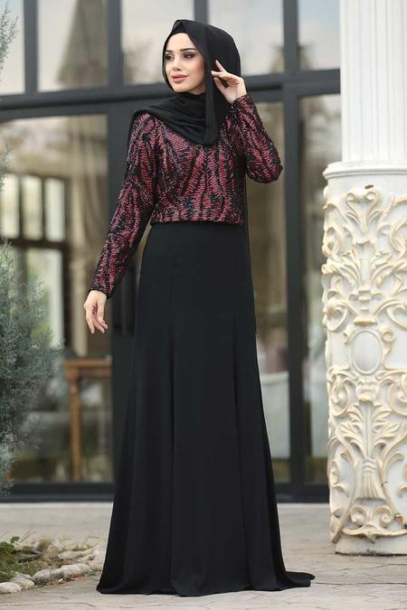 Tesettürlü Abiye Elbise - Kırmızı Etek / Bluz Tesettür Abiye Takım 37220K
