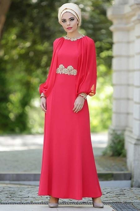 Tesettürlü Abiye Elbiseler